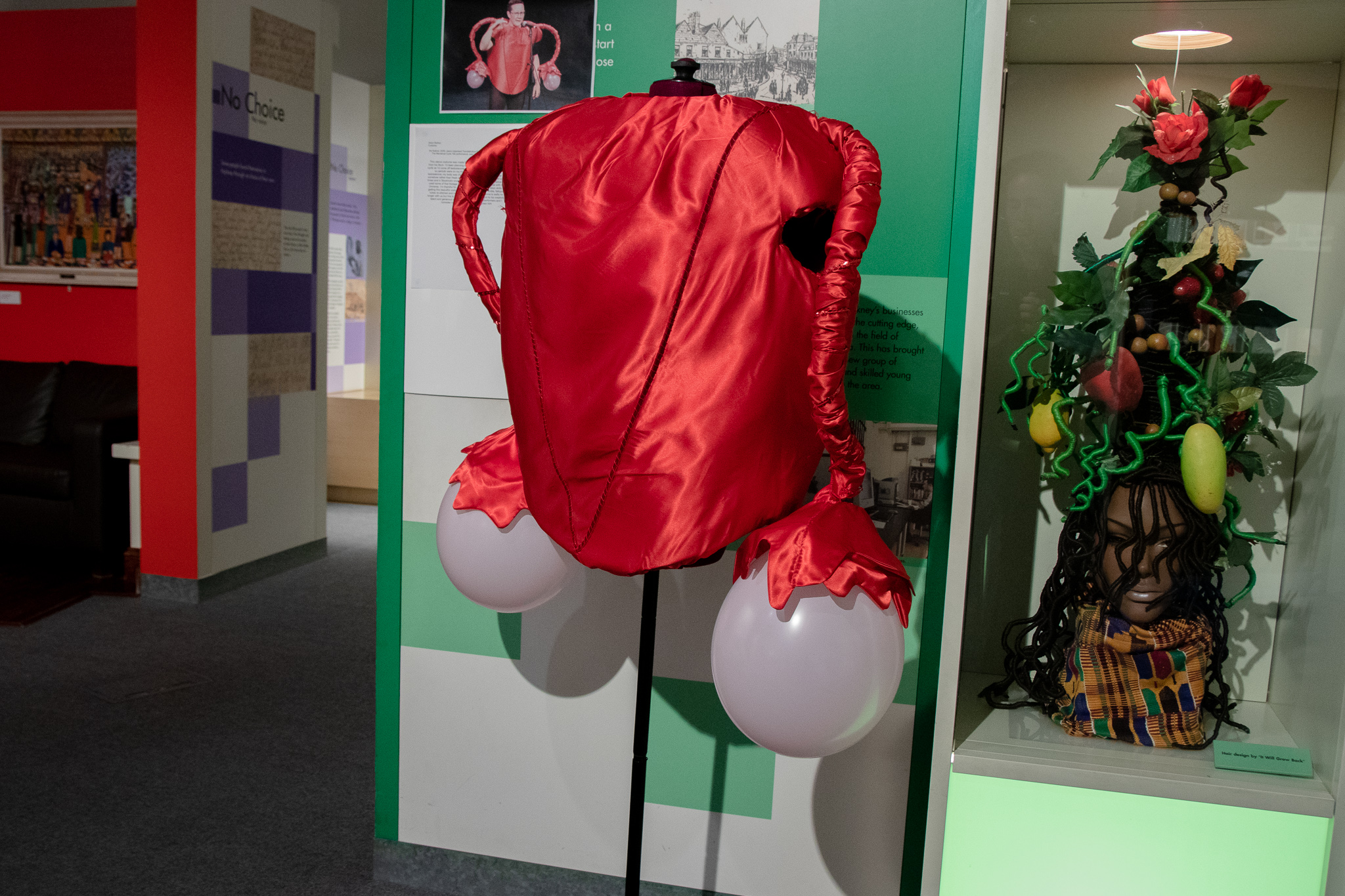 red silky Ovary costume