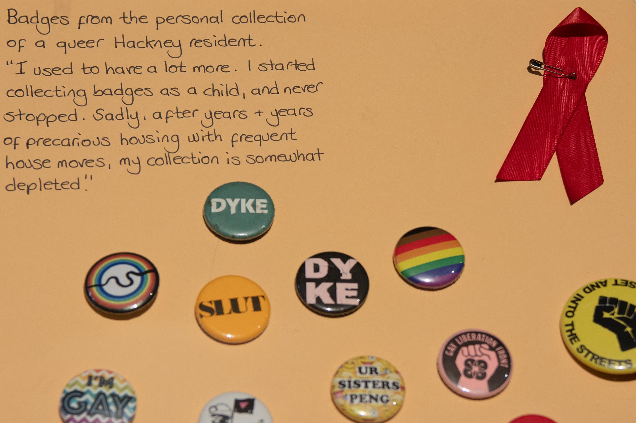 Badges closeup