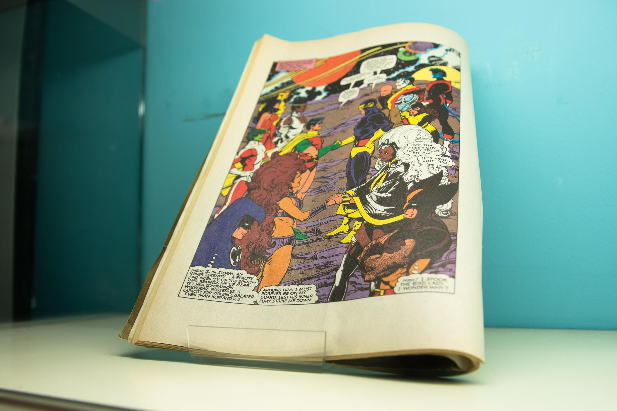 close up of colourful magazine image