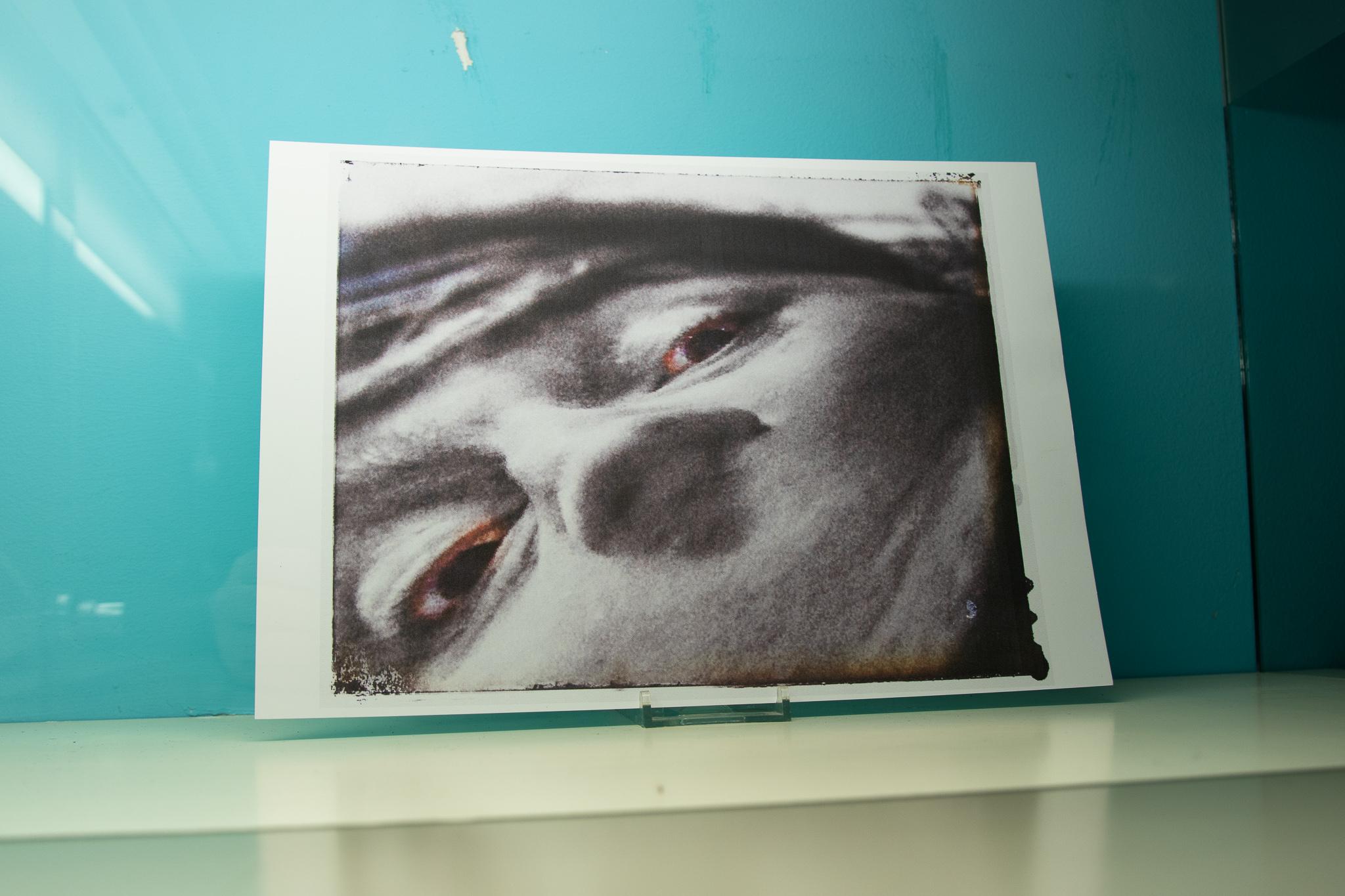 Photograph of a face, close up