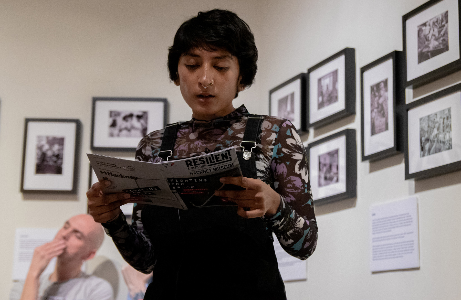 Reading at Hackney Museum LGBT History month from the Fighting For Space zine