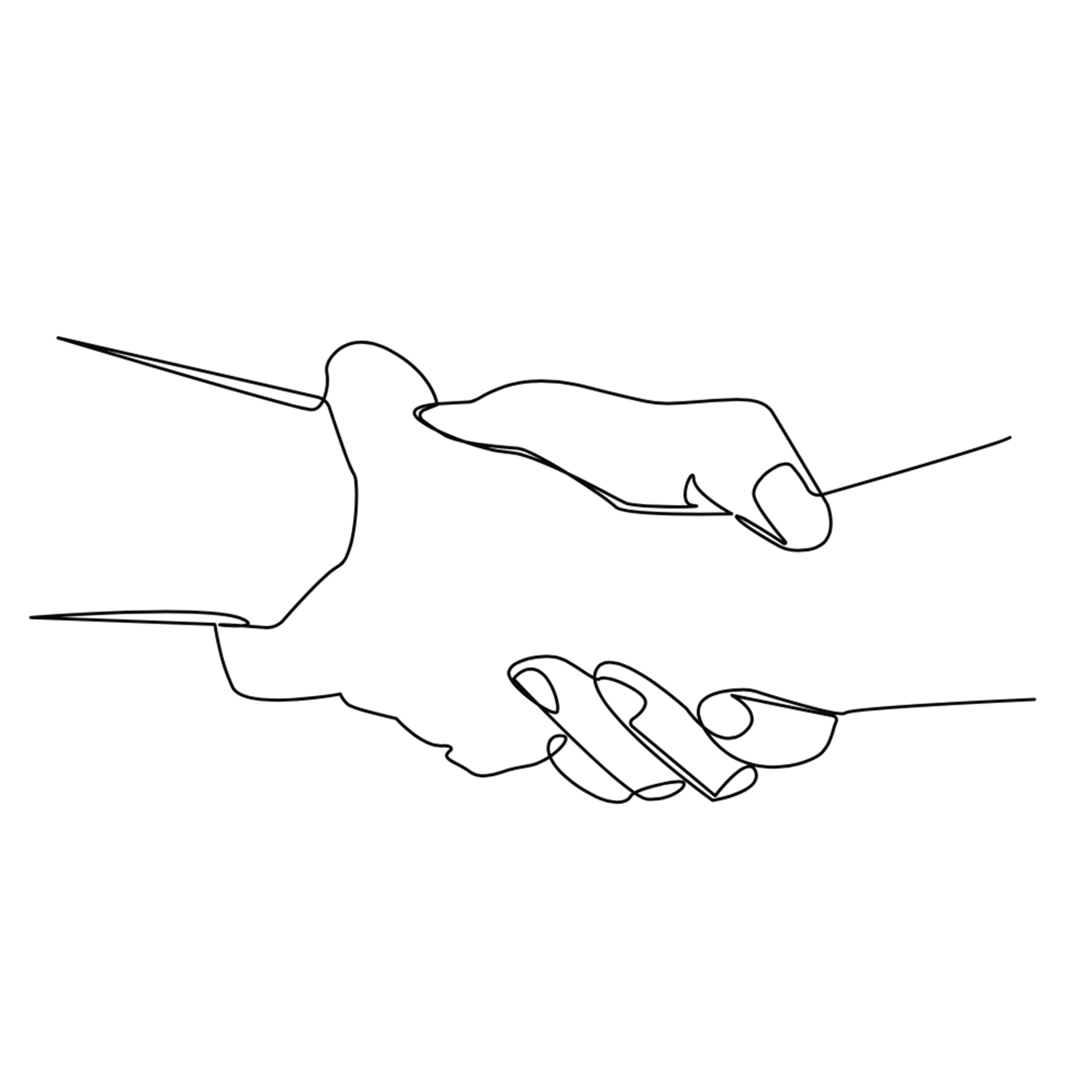 Two hands supporting each other